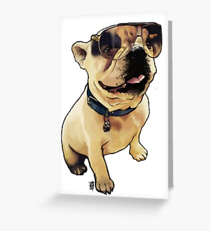 Alfie the French Bull Dog Greeting Card