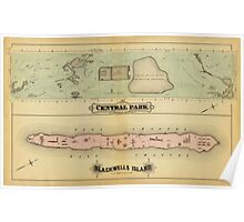 Map of Central Park 1879 Poster