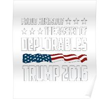 Proud Member of the Basket of Deplorables Classic Fit T-Shirt & Gear Poster