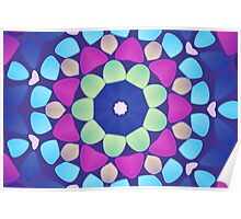 Abstract mosaic multicolored background Poster