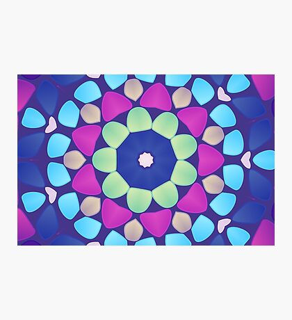 Abstract mosaic multicolored background Photographic Print