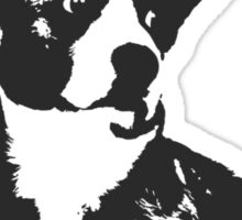 PURPLE STRIPE CORGI Sticker
