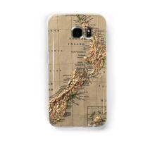 Map of New Zealand 1880 Samsung Galaxy Case/Skin