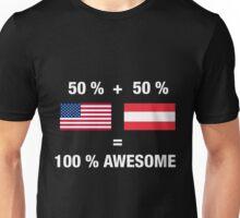 Half Austrian Half American 100% Awesome Flag Austria Unisex T-Shirt