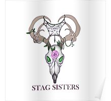 Stag Sisters Crest w/words Poster