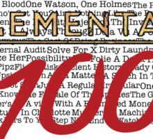 #Elementary100  Sticker