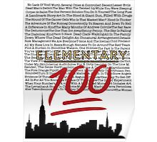 #Elementary100  Poster