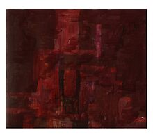 Red rock face Photographic Print