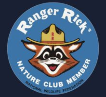 Ranger Rick's Nature Club Vintage Member Badge Kids Tee
