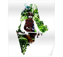 Maine 1886 State Cutout Poster