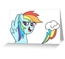Rainbow Dash Greeting Card