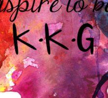 Aspire to Be KKG Sticker