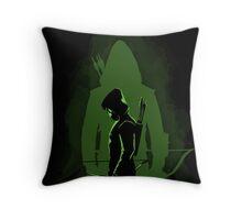 Green shadow Throw Pillow