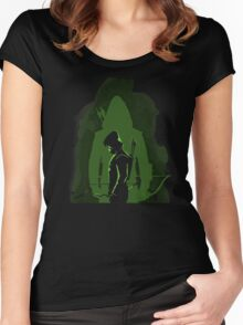 Green shadow Women's Fitted Scoop T-Shirt