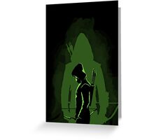 Green shadow Greeting Card