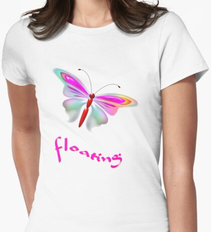 Floating Butterfly T-shirt, etc Womens Fitted T-Shirt