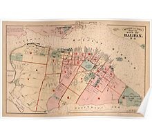 Map of Halifax 1878 Poster