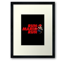 Super Mario - Run Mario Run - Clean Framed Print
