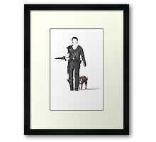 Mad Max & Dog Framed Print