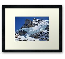 Mountain Snow in the Columbia Icefields Framed Print