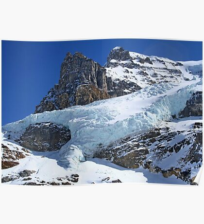 Mountain Snow in the Columbia Icefields Poster