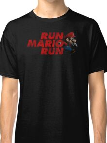 Super Mario - Run Mario Run - Dirty Classic T-Shirt