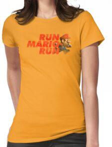 Super Mario - Run Mario Run - Dirty Womens Fitted T-Shirt