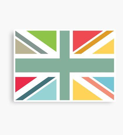 Colourful Union Jack flag Canvas Print
