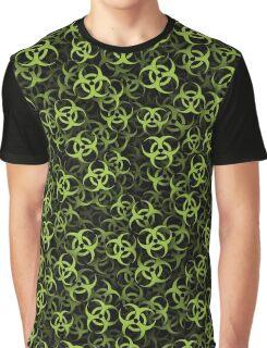 Biohazard (green on black) Graphic T-Shirt