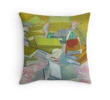 Vincent Van Gogh - Pile of French Novels, Book lovers! Throw Pillow