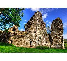 Pendragon Castle Walls Photographic Print
