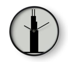Sears Tower Willas Tower Chicago Architecture Gray Black Clock