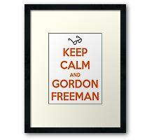 Keep Calm And Gordon Freeman Framed Print