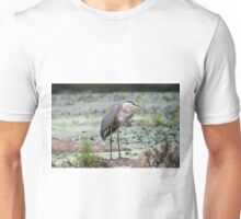 Here I stand - Great Blue Heron Unisex T-Shirt