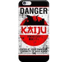DANGER KAIJU poster iPhone Case/Skin