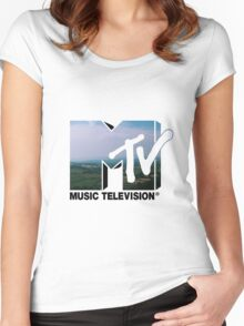 MTV Logo Women's Fitted Scoop T-Shirt