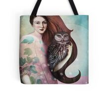 She and her Owl Tote Bag