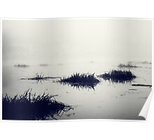 Fog over the river Poster