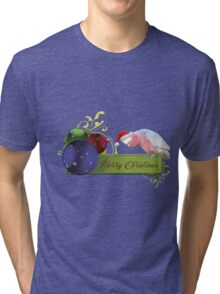 Merry Christmas from Charlie the Galah Tri-blend T-Shirt