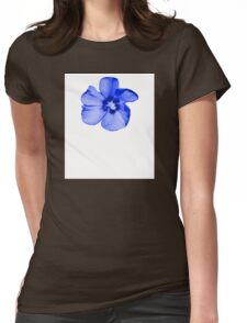 Blue Hibiscus Womens Fitted T-Shirt