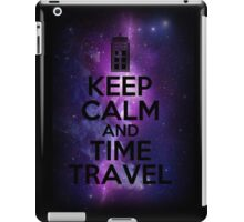 Keep calm and time travel iPad Case/Skin