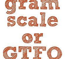 Gram Scale or GTFO by pensacolashirts