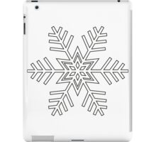 Snowflake | Black and White iPad Case/Skin