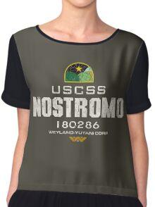 Alien Nostromo logo grunge Chiffon Top
