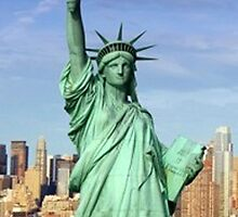 Statue of Liberty ~ iPhone Case by ©The Creative  Minds