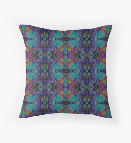 Exotic Tulips Throw Pillow
