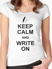 Keep Calm And Write On Women's Fitted Scoop T-Shirt