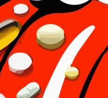Pills on tongue Sticker