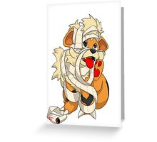 Bad Puppy Greeting Card