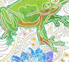 Zen Frog Sticker